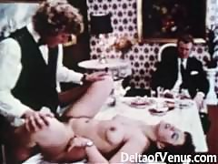 Vintage Porn 1970s - Table For Three