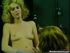 Classic Blonde Lesbians in Locker Room