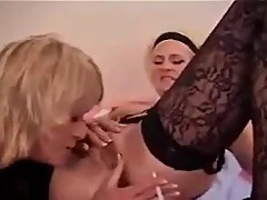 Classic Michelle St. James Smoking Girl-Girl Fun