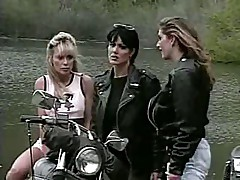 Lesbian sex in the bike