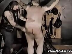 Chubby Bear Retro Gay Spanking