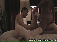 Cuckold archive - sissy husband and black bulls fucking wife