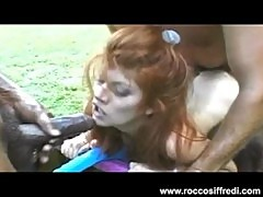Vintage Rocco Siffredi Full Scene Interracial Gangbang and DP