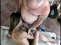 Iris Gets Throat Fucked By Old Man Jesse