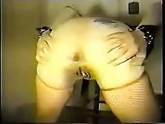 Classic Black cock anal slave slut gape