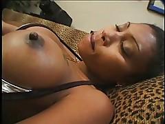 Black Whores Share A Sexy Glass Dildo