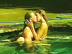 Cheating wife fucked in the pool