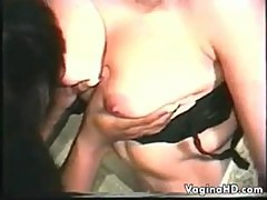 Interracial Lesbian Lovers Being Naughty