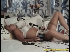 Masturbating with a bottle