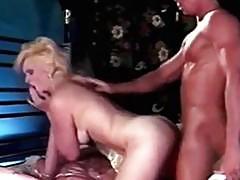 Retro blonde shocking and fuck skills