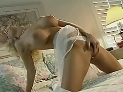 Hot babe masturbates 3