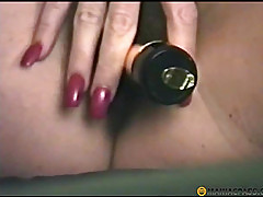 Her hairy pussy sex toy