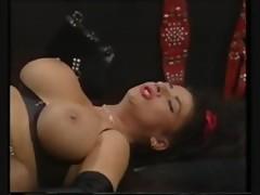 busty Tiziana Redford foursome vintage porn