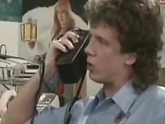 Tracey Adams fucks and suck horny guy in 1980's porn vid